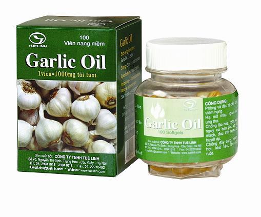 dau toi tue linh Sản phẩm chiết xuất hoàn toàn từ tỏi nguyên chất : Dầu tỏi GARLIC OIL