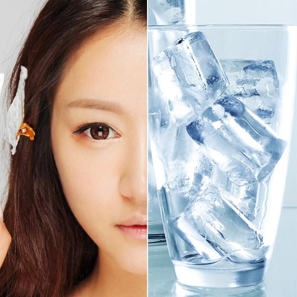 Chăm sóc da căng bóng không tốn tiền với đá lạnh 1